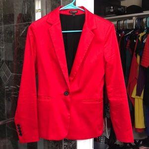 Express bright red blazer jacket
